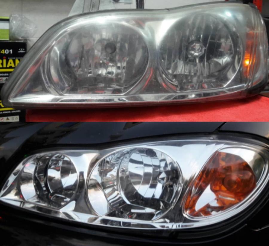 شفاف سازی چراغ ماشین
